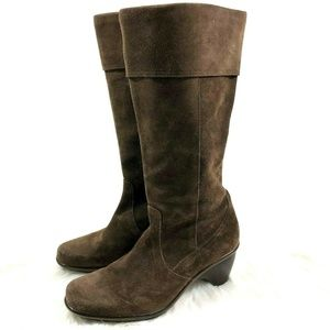 Dansko Brown Suede Leather Calf Boots